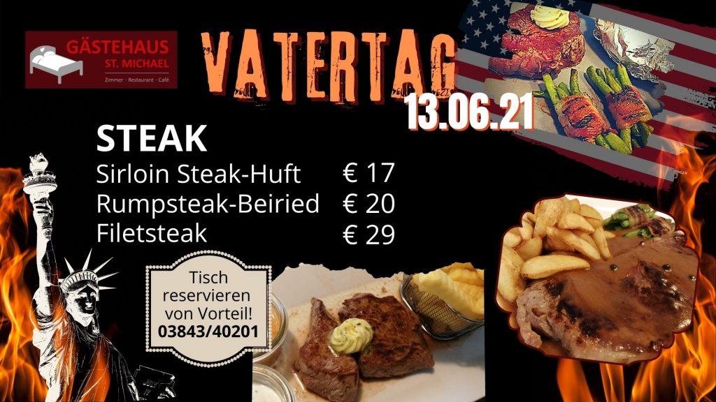 Nächste Aktivität: Steak essen am vatertag am 13.06.21